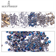 1 Box Laser Nail Glitter Sequins 3D Mixed Micro Drill Crystal Designs Holographic Nails Pailette Manicure Nail Art Decor Tool(China)
