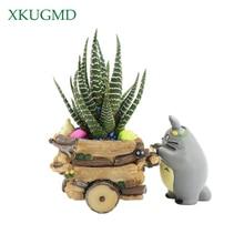 Современный мультфильм сочные кашпо смолы творческий ремесла МИЛЫЙ Тоторо цветочный горшок дома ваза с орнаментом Macetas горшки