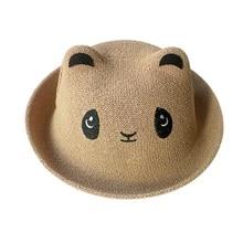 Newborn Toddler Pure Colors Girl Boy Baby Hat Kids hat Sunshine Cap Shape  Panda Bear straw f1f87c11719c