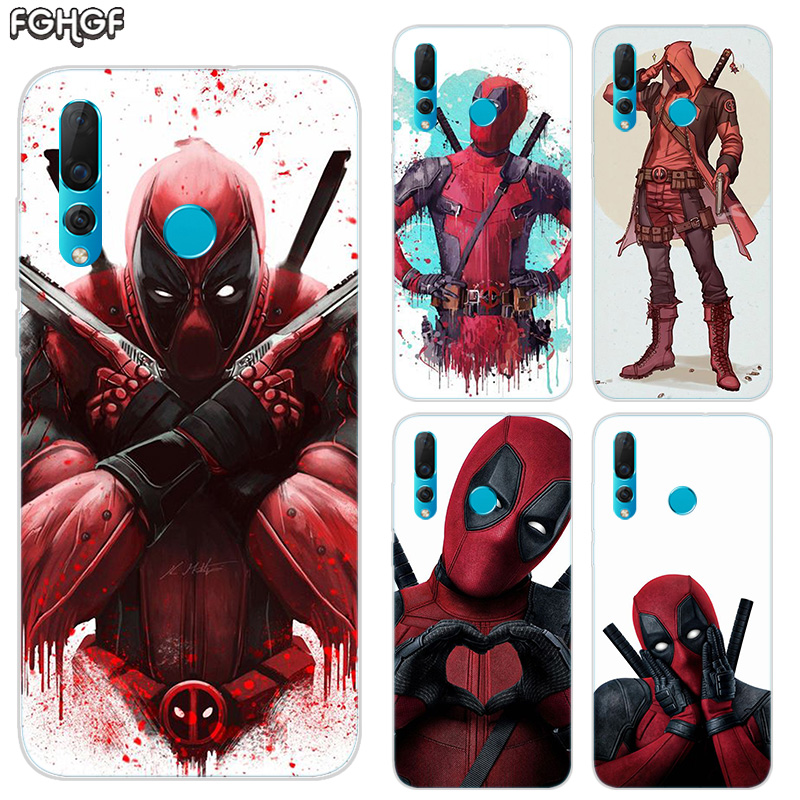 Funda Soft Hull Shell Case For Huawei Nova 2 2 Plus 2S 3 3i 4 TPU Printed Pattern Riverdale Cover Coque Marvel Hero Deadpool in Fitted Cases from Cellphones Telecommunications