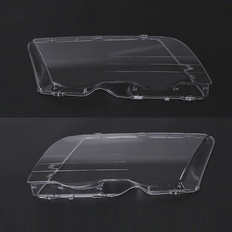 1 Pair Front Left/Right Headlight Plastic Clear Lens Cover For BMW E46 3 Series 320i/325i/325xi/330i/330xi 1998 1999 2000 2001 headlight clear lens cover 2 pcs front headlamp plastic shell for bmw e46 2 door 1999 2002 left