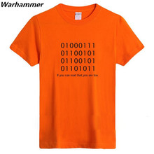 Geek Programmer ASCLL Men T shirt Fashion & Casual Style 100%cotton Letters Print Top O-neck Short Sleeve Tee Women TShirt Dress