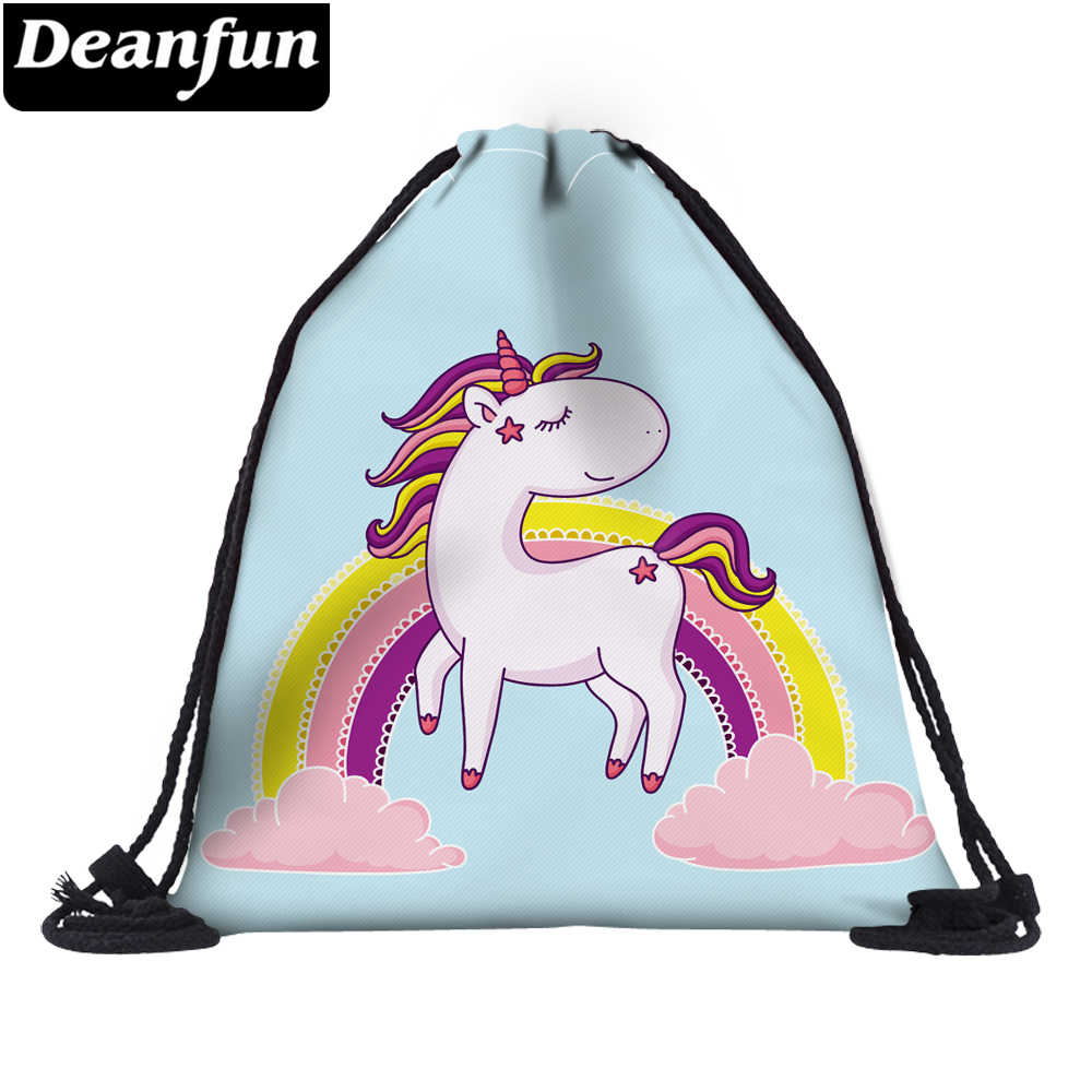 e9ee66ec141 Detail Feedback Questions about Deanfun 3D Printing Drawstring Bag Rainbow  Unicorn for School Shoes Storage Dropshipping 60109 on Aliexpress.com    alibaba ...