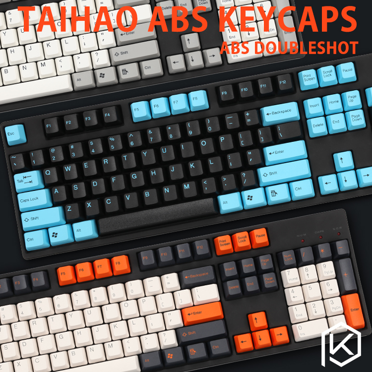Taihao Abs Double Shot Keycaps For Diy Gaming Mechanical Keyboard Color Of Carbon Pulse Captain America Grey White