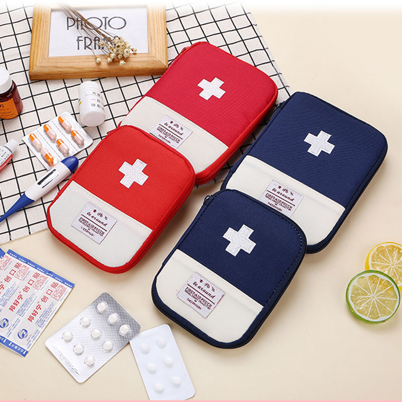 Mini Travel First Aid Kit Bag Medicine Emergency Kit Bags Small Portable Packing Organizer Bag