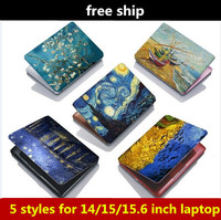1pcs Van Gogh Oil Painting Laptop Case Stickers For 14 15 15 6 Inch Notebook Accessory