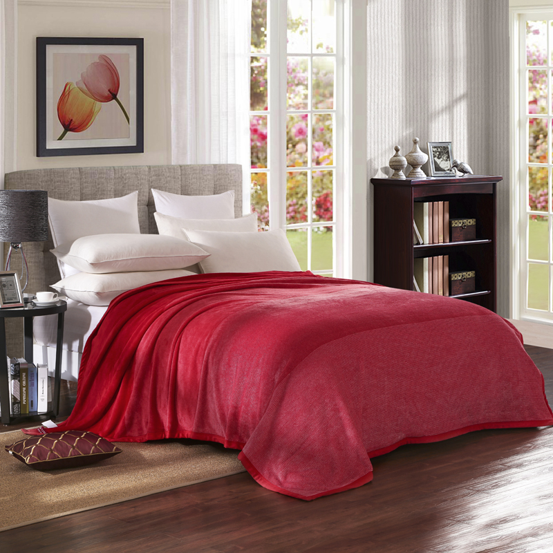 Large Red Gradient Of Pure Color Berber Fleece Blanket Soft Fleece Thickening  Blanket Bed Sheet Flannel Blankets Christmas WarmLarge Red Gradient Of Pure Color Berber Fleece Blanket Soft Fleece Thickening  Blanket Bed Sheet Flannel Blankets Christmas Warm