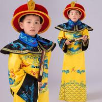 Children Photo Studio Costume Baby Boys Hanfu Clothing Royal Emperor Dragon Robe Kids Cosplay Clothing Flim Dramaturgic Clothes