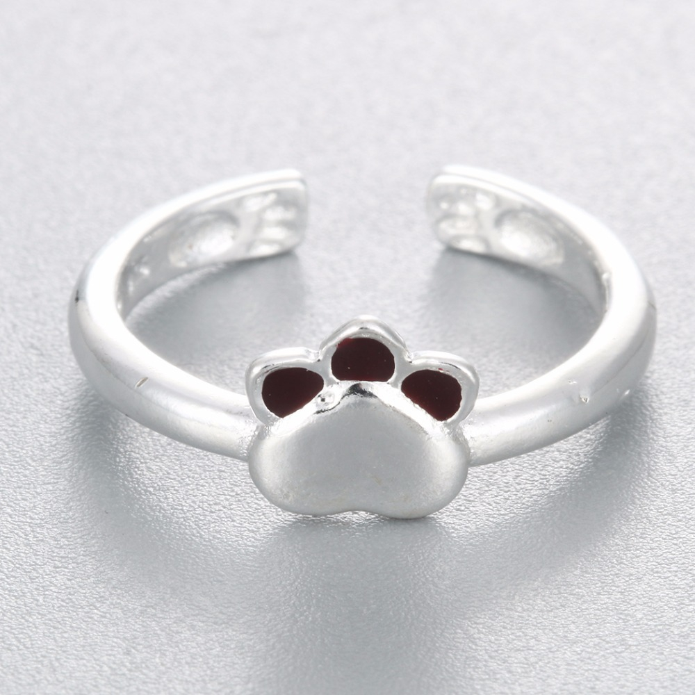 Todorova Cute Cat Paw Rings For Women Jewelry Lovely Dog Print Finger Open Rings Wedding Rings Female Adjustable Claw Ring In Rings From Jewelry Accessories On Aliexpress