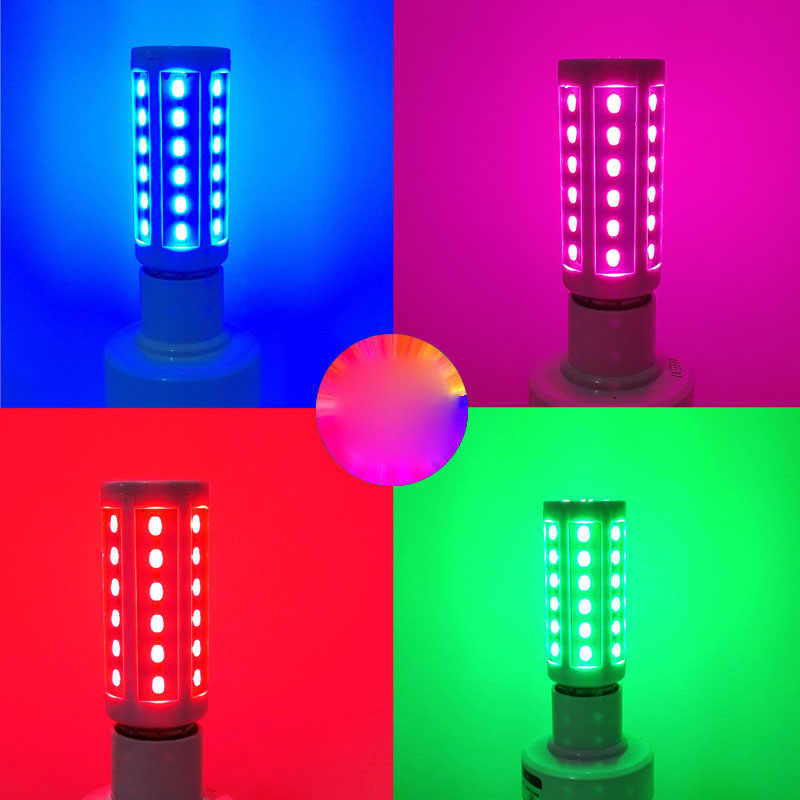 E27 5730 5630 SMD LED Corn Bulb Super Bright 220V 10W 15W 20W 25W 30W 40W 60W 80W red/blue/green/purple/pink Lampada LED Lamp