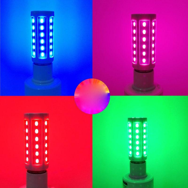 E27 5730 5630 SMD LED Corn Bulb Super Bright 220V 10W 15W 20W 25W 30W 40W 60W 80W Red/blue/green/purple/pink Lampada LED Lamp