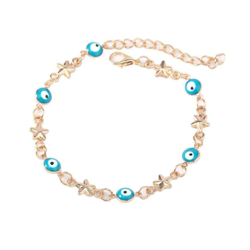 Turki Mata Lima-Menunjuk Gelang Gelang Bintang Fashion Persahabatan Gelang Perhiasan Mengkilap Gelang Elegan Gelang # ZA