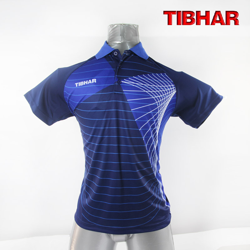 Tibhar original quality table tennis shirts men 39 s polo for Men s athletic polo shirts