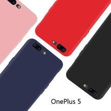 Um plus 5 ultra fino fosco cor sólida capa protetora para oneplus 5 oneplus5 um mais 5 a5000 capa escudo
