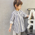 2017 Spring Summer Kids Children Shirts Cotton Long Sleeve Stripe Style Girl shirts Best Matching Loose Girl Blouse for 2-8Y