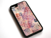 12057 Passport Stamps Pattern Phone Case Cover For Apple IPhone 7 7Plus 8 8Plus IPhone