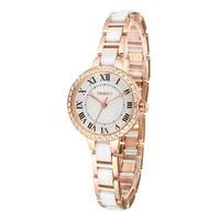 2017 Time100 Women Watch Luxury Brand Simulated Ceramics Strap Waterproof Ladies Wrist Watches For Women relogio feminino
