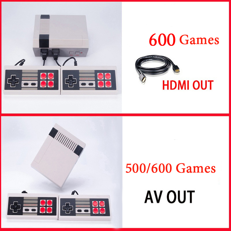 CoolBaby Mini TV Game Console Support HDMI/AV 8 Bit Retro Video Game Console Built-In 600/500 Games Handheld Gaming Player