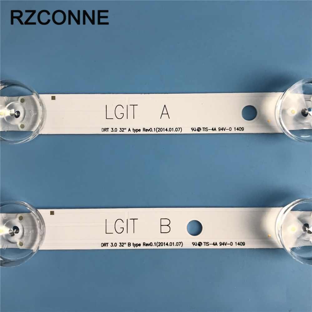 """شريط إضاءة خلفي LED لـ LG inنوت k DRT 3.0 32 """"_ A/B 32MB25VQ 6916l-1974A 6916l-1981A 32LB5820 32lfv 32LB5610 lc320عل"""