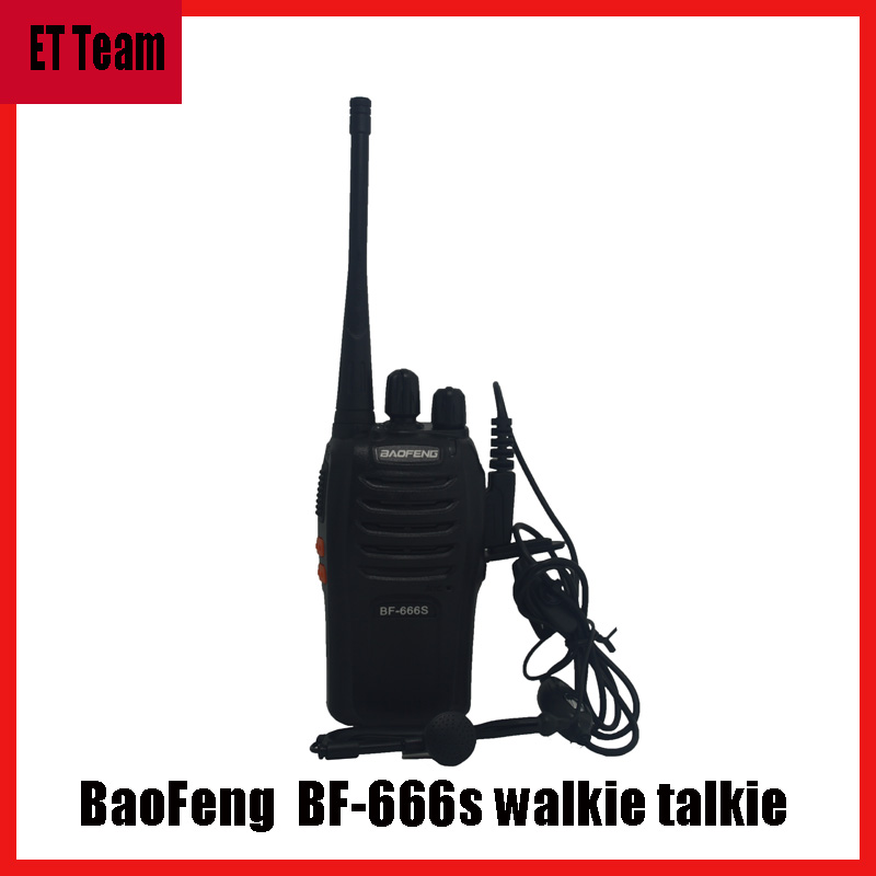 bilder für Neue Tragbare Radio baofeng BF666s BF-666S Walkie-talkie 5 Watt 16CH UHF BF 666 S Comunicador Sender Transceiver mit headset