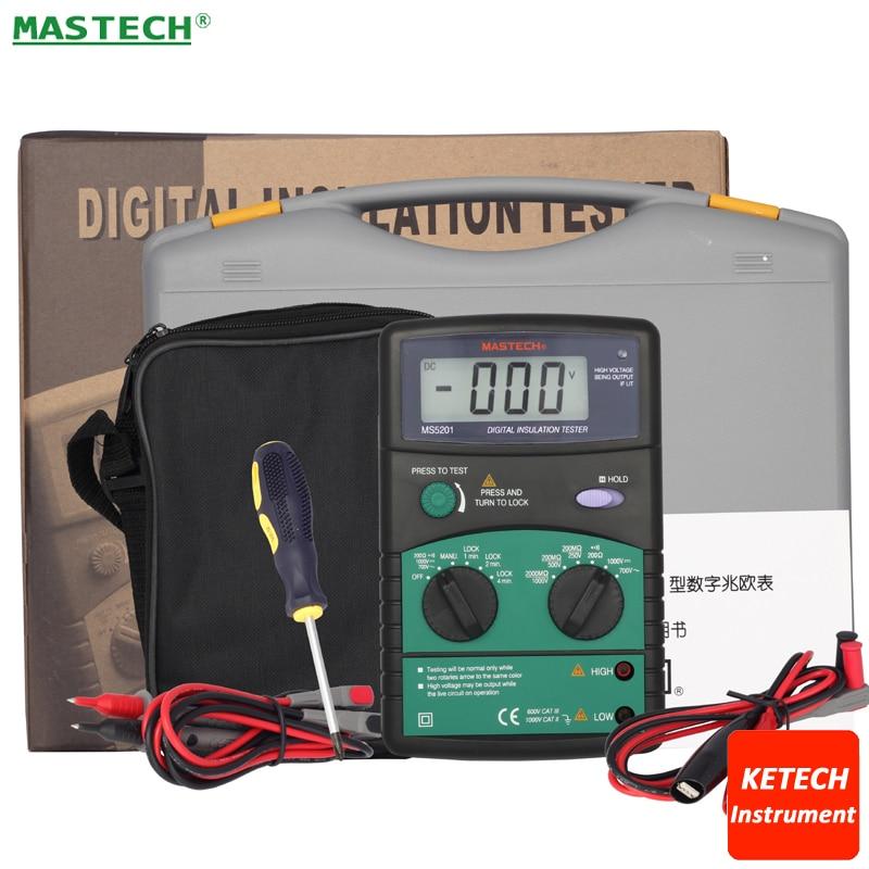 3 LCD Digital Mega Ohm Insulation Tester MASTECH MS5201 цена