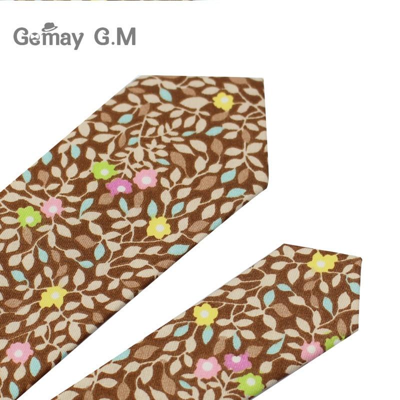 Marke Baumwolle Floral Krawatten Für Männer Anzug Dünne Mens - Bekleidungszubehör - Foto 6