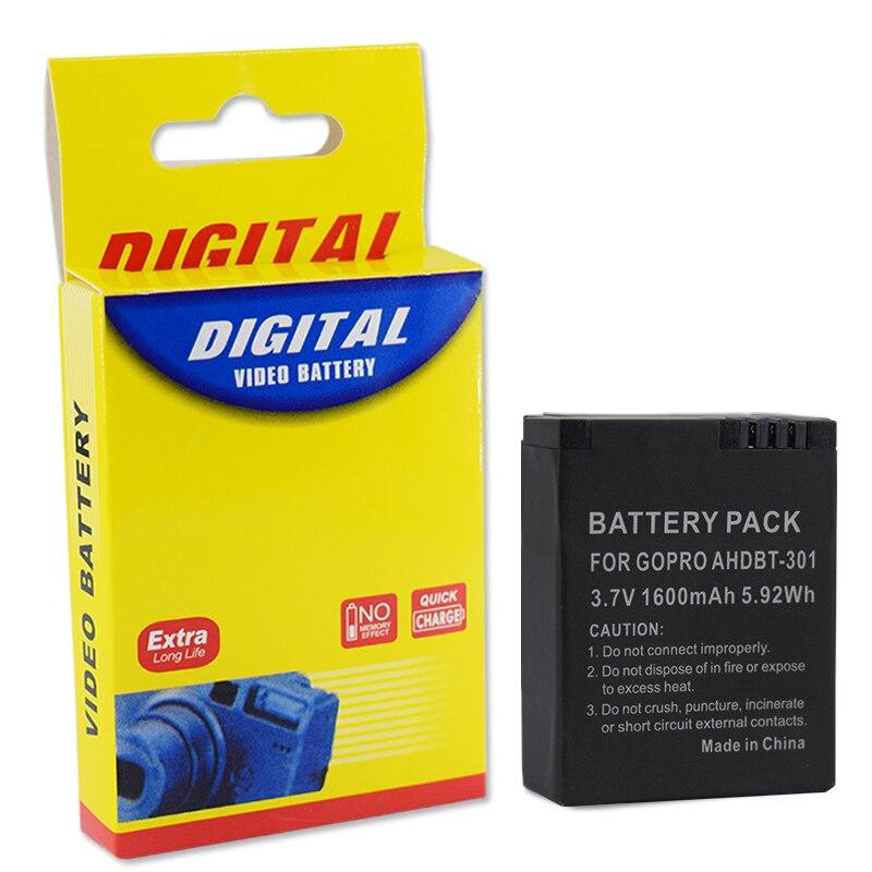 3.7 v AHDBT-301 hero3 bateria + usb