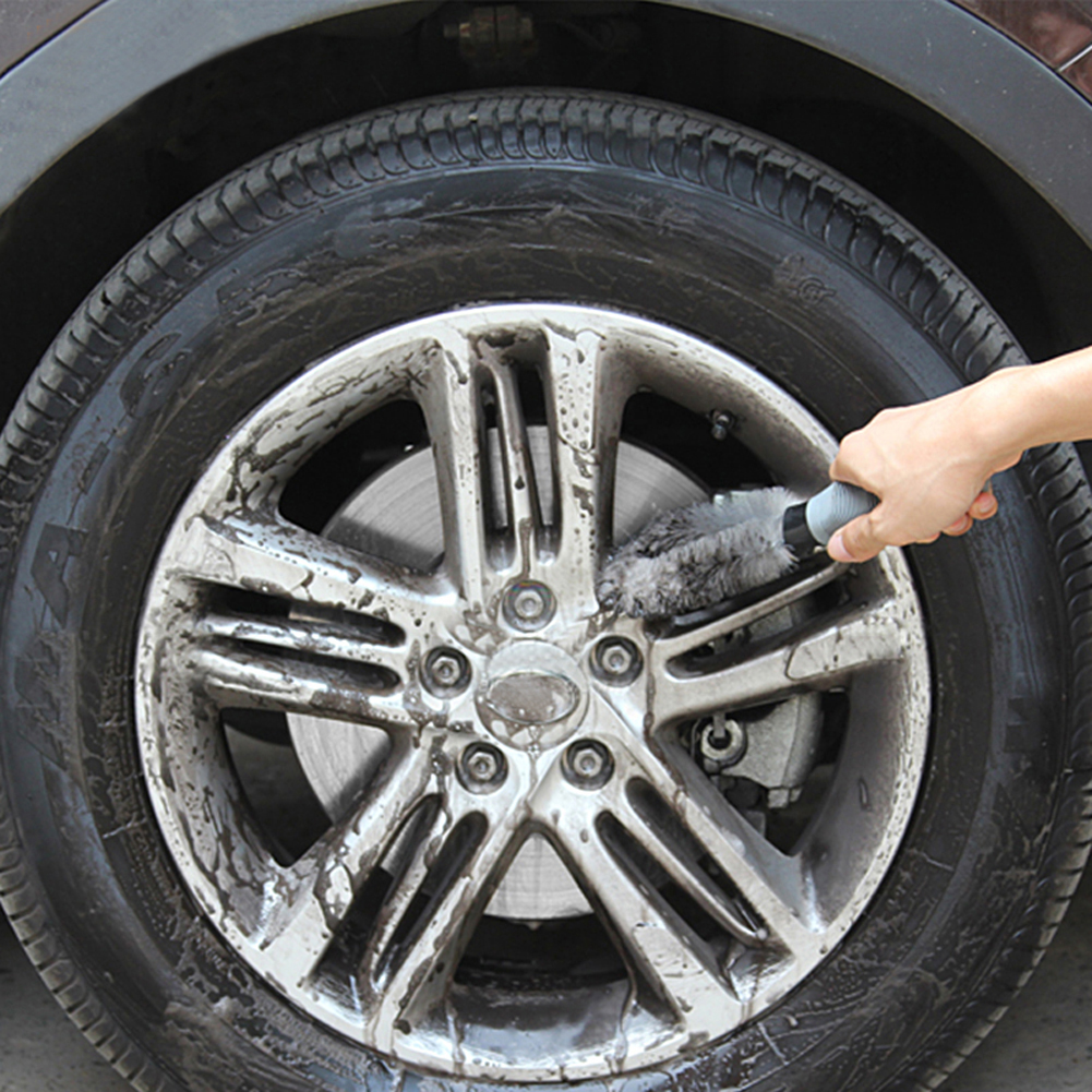High Quality Wheel Brush Gray Color for Car Cleaning