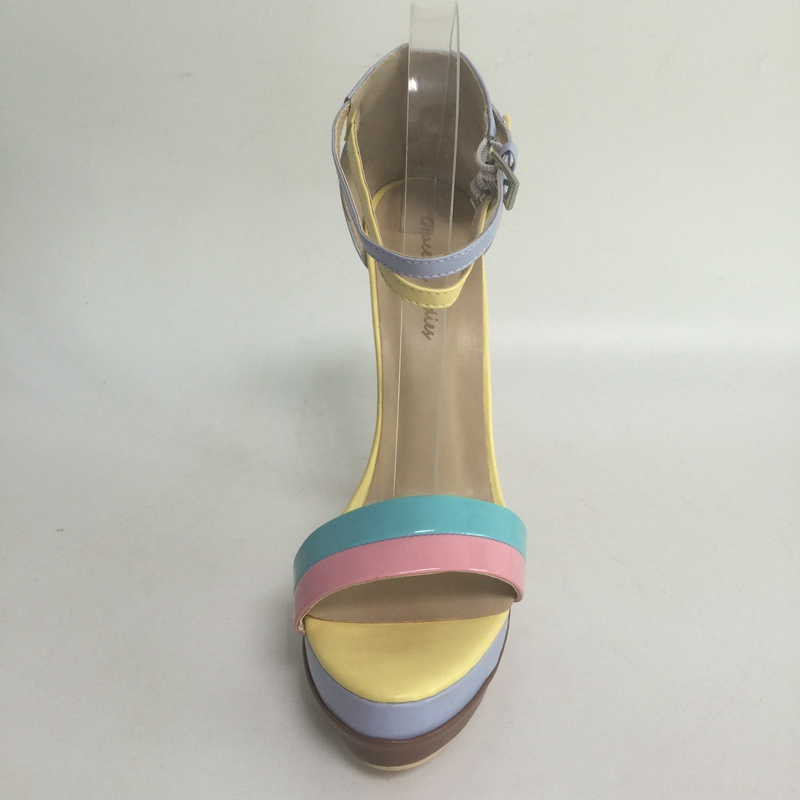 color Il Taglia Giallo Formato Di Scarpe Piattaforma Della Tacco Estate Color Colore Femminili colore Zapatos Alto Multi Sorbern 15 Più Custom Sandali Mujer Caramella Delle Donne O4wqPxUp