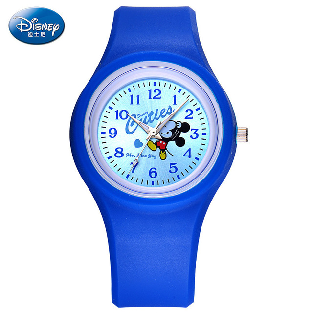 Children watch Disney brand girls Cartoon Minnie Luminous  silicone waterproof kids wristwatch relogio clocks quartz