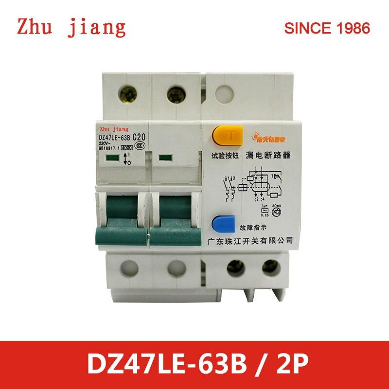 AFDD feu preuve électrique disjoncteur-GFCI 2 P 63A