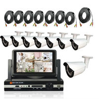 960P Home CCTV System 8ch Outdoor Waterproof Security Camera System 8 Channel AHD 1080P DVR CCTV