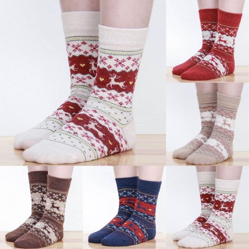 Women Winter Socks Christmas Gift Warm Wool Socks-m15