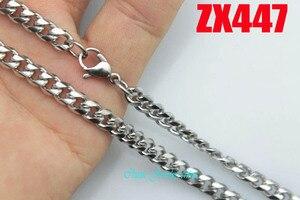 5 мм закругленные углы Снаряженная кубинская цепь ожерелье из нержавеющей стали модные мужские женские ювелирные цепочки 20 шт ZX447