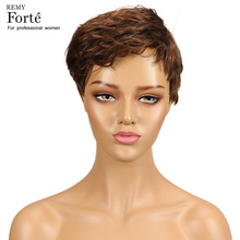 Remy Forte Human Hair Wigs Short Real Human Hair Wigs Ocean Wave 100% Remy Brazilian Wigs Refreshing Breathable Wigs Cheap Wigs