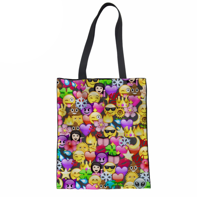 27c3e1a6945e Women Bag Emoji Large Totes Shoulder Handbags for Teens Girls Kids Messenger  Bags Female Shopping Bags