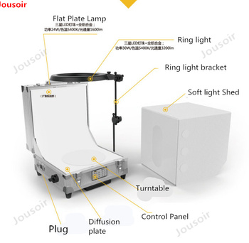 LED Folding Photo Studio Lightbox 360 degree rotating photography automatic three-dimensional system 3D shooting CD50 T03 Y