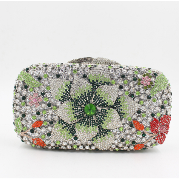 Bridal Wedding silver prom Evening Bags Floral Day Pouch Clutches women Purse college students Party wallets gold/yellow/blue silver metal lady fashion evening bag silver stylish day clutches prom ladies handbag yls g74