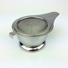 Mesh Tea Strainer With Stand Hook Coffee Drain Infuser Durable Tea Herbel Spice Filter 11.9X7.2X4.3cm Stainless Steel