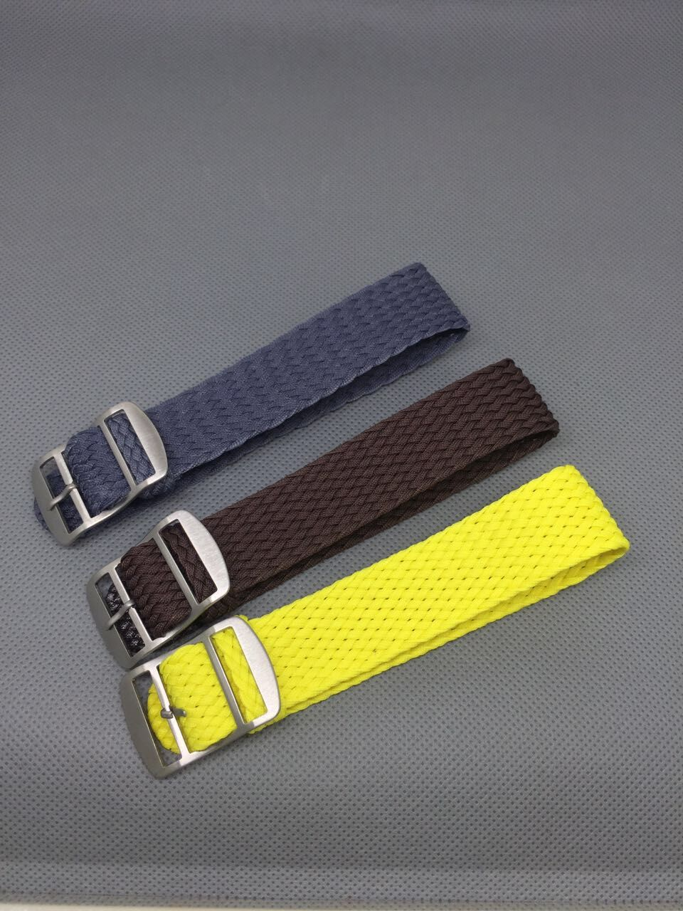 1PCS 18MM nylon straps perlon straps weave straps watch strap Watch band 12 colors available PS002 in Watchbands from Watches