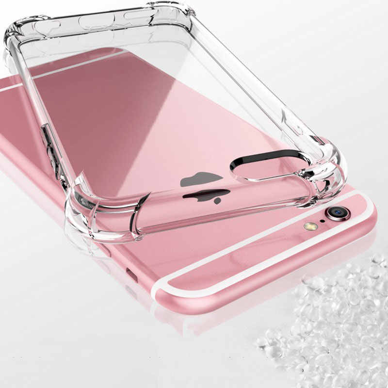 Funda Transparan Kasus Shockproof Silicone untuk iPhone 11 Pro X XS Max XR 6 5 S 7 8 Se 2 2020 PLUS 360 Clear TPU Cover Coque