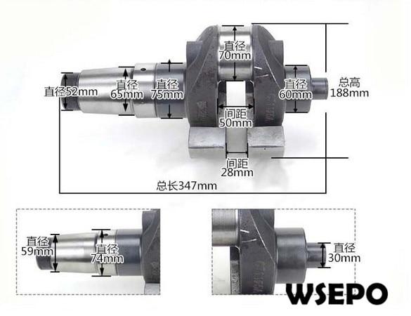 OEM Quality! Crankshaft for CT1125 4 Stroke Single Cylinder Small Water Cooled Diesel Engine oem quality cylinder head comp for zh1115 4 stroke small water cooled diesel engine