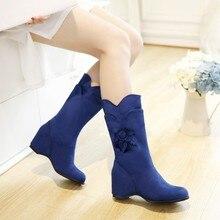 אישה נשים גבוהים ירך בסגנון קיץ femininas botas מגפי אמצע עגל masculina botines zapatos mujer נעלי chaussure femme HQ101