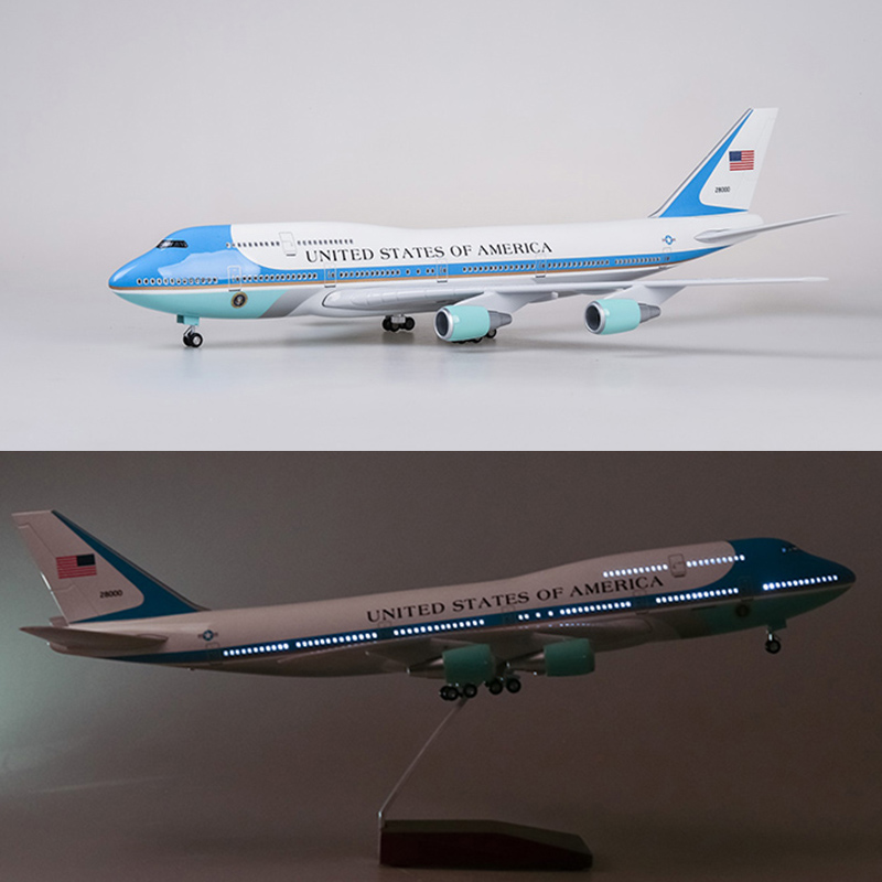 Wholesale 47cm Airplane Model Toys Boeing 747 Air Force One
