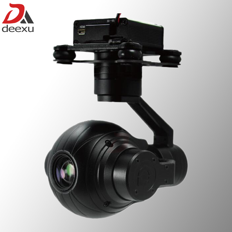 3 Axis Lightweight 1080P HD 10x Zoom Drone Aerial Camera UAV Gimbal Camera