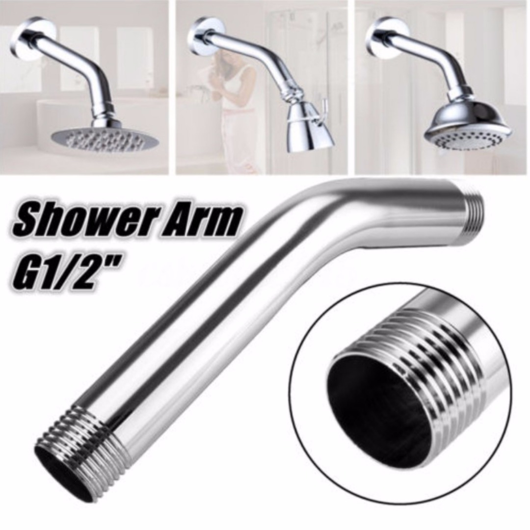 Picture of: High Quality G1 2 Shower Arm Bathroom Shower Head Extension Pipe Spray Nozzle Extra Fixed Tube Bathroom Accessories Mayitr Shower Arms Aliexpress