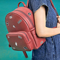 Kiitos fashion original Electricity embroidered leather backpack