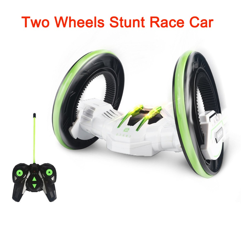 YiTao TM Two Wheels Stunt Race Car RC Vehicle with LED Headlights Double sided Tumbling Extreme