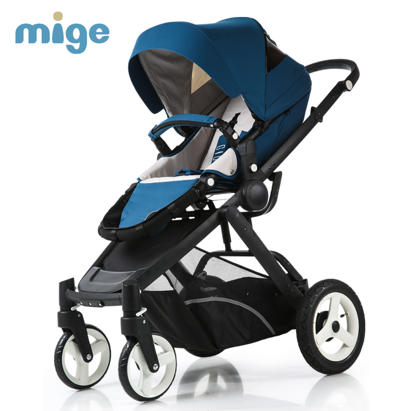 mige baby stroller lightweight folding umbrella stroller car can sit or lie portable baby child trolley summer блендер saturn st fp9087 white green