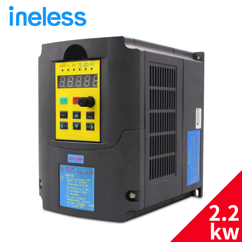 220v 2.2kw 1HP or 3HP Input 3HP frequency inverter CNC Spindle motor speed control VFD Variable Frequency Drive VFD Inverter 220v 5 5kw vfd variable frequency drive vfd inverter 3hp input 3hp output cnc spindle motor driver spindle motor speed control